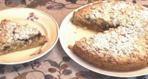 Яблочный песочный пирог крамбл