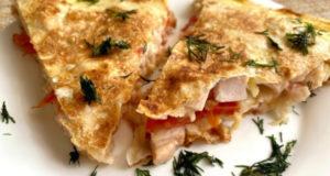 Быстрый завтрак-ленивая пицца из лаваша