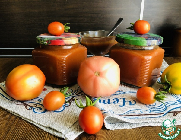 Кетчуп на зиму из томатного сока