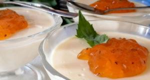 Сметанный десерт с ванилью
