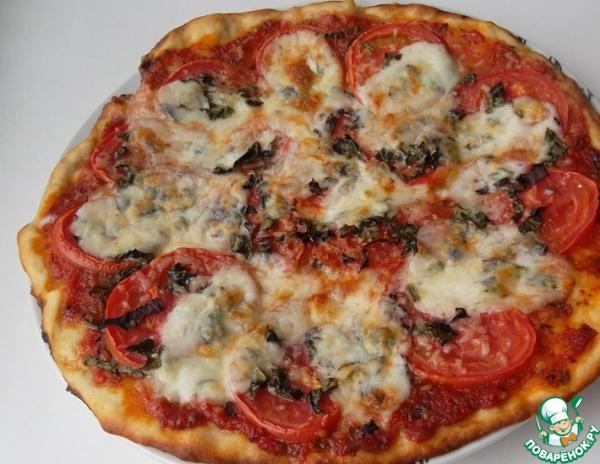 Пицца Маргарита на нетрадиционном тесте