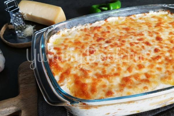 Картофель с треской под соусом Бешамель
