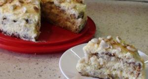 Яблочно кокосовый торт