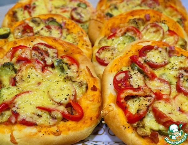 Мини пицца с воздушным тестом