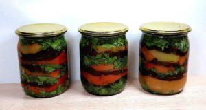 Салат из баклажанов и перца на зиму