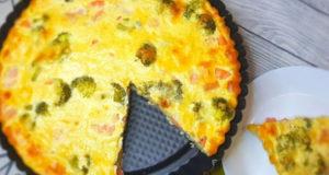 Пирог Киш с рыбой и брокколи