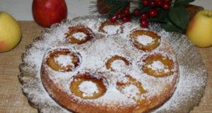 Быстрый яблочный пирог на сковороде