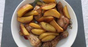 Запеченная курица с картошкой в соевом соусе