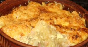 Картофель под сырной корочкой