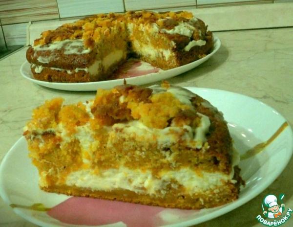 Тыквенный торт на скорую руку
