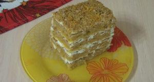 Тыквенный пряный торт Осенний