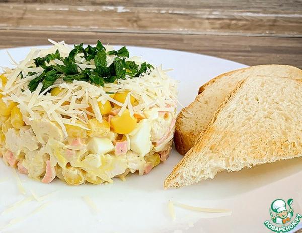 Салат с кукурузой на скорую руку