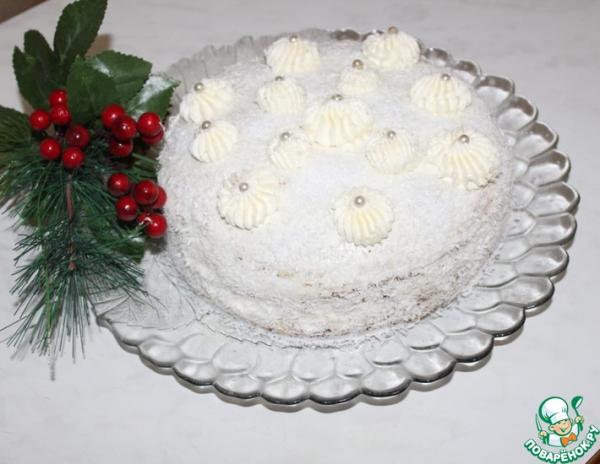 Необычный тортик из тыквенных блинчиков