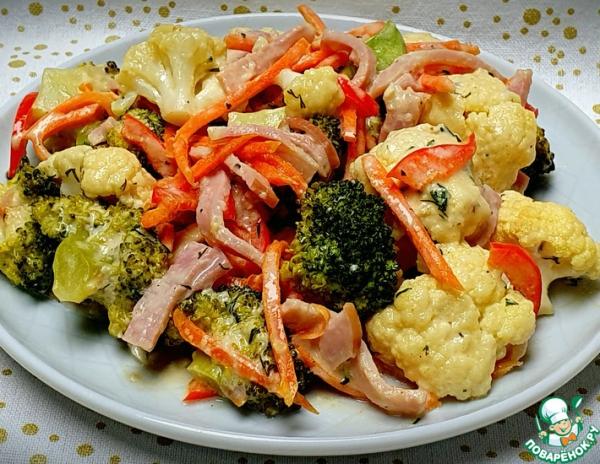 Овощи в сливочно-сырном соусе