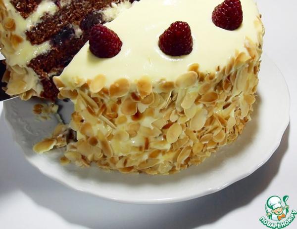 Торт бисквитный с кремом сливочное мороженое