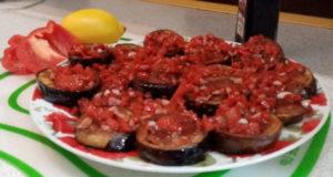 Острые баклажаны в винном соусе
