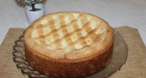 Итальянский пирог с творожно-заварным кремом