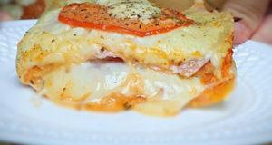 Слоёные бутерброды Ленивая пицца за 20 минут