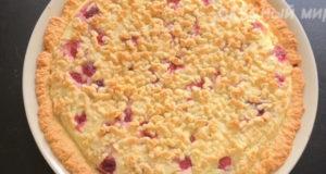 Творожный тёртый пирог с ягодами