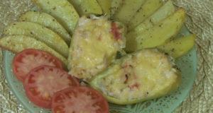Перцы фаршированные курицей и рисом