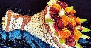 Торт Букет Мастер-класс по сборке и оформлению