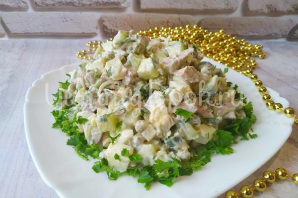 Салат с языком на праздничный стол