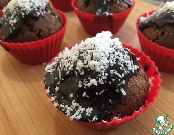Праздничные кексы с кокосовой стружкой