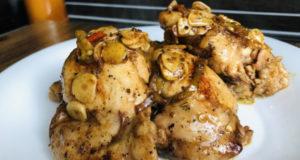 Куриные бёдра в чесночно-имбирном соусе