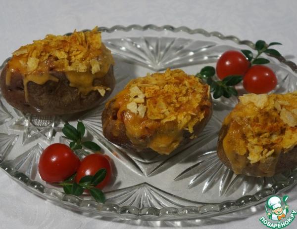 Печеный картофель по-строгановски