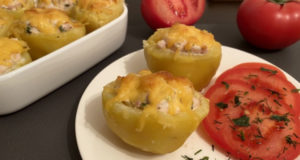 Фаршированный картофель с куриной грудкой и сыром