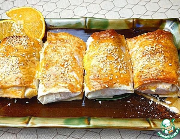 Морковные пирожные в лаваше
