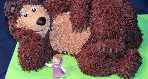 Торт Медведь Сборка и украшение