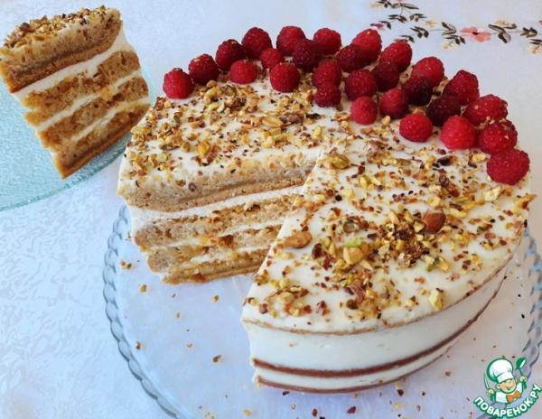 Тыквенный торт с апельсиновым джемом нежный и вкусный торт