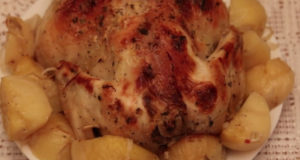 Курица запеченная в духовке с картофелем