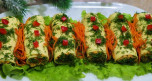 Закуска из корейской моркови и сыра