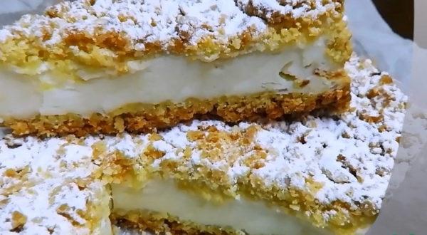 Любимый пирог с йогуртно-сметанной начинкой