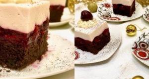 Вишневый торт с йогуртовым кремом