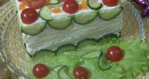 Праздничный бутербродный торт