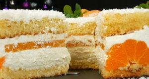 Торт Мандариновая нежность