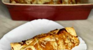 Энчиладас с курицей грибами и фасолью