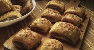 Творожное печенье с банановой начинкой