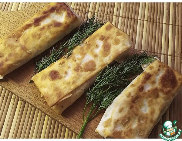 Закуска из лаваша с вкусной начинкой