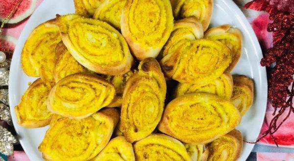 Печенье Золотистые лодочки с куркумой
