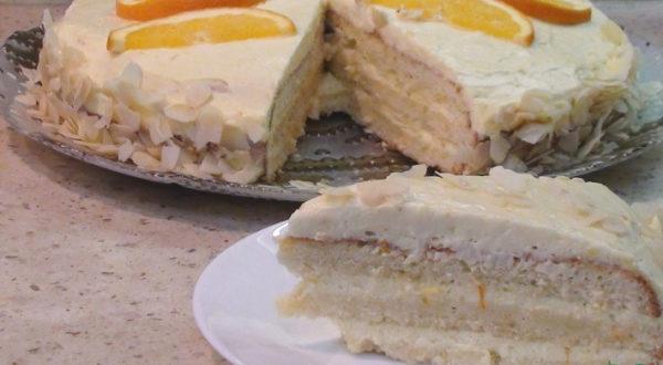 Апельсиновый торт Ламбада