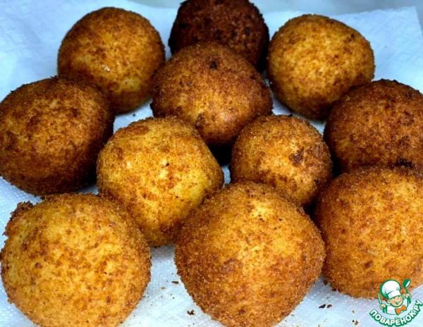 Картофельные шарики с Моцареллой