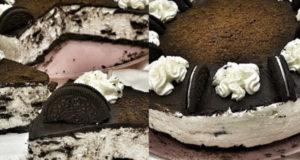 Простой чизкейк без выпечки с шоколадом и печеньем