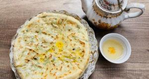 Чеченские лепешки Чепалгаш с творогом и зелёным луком