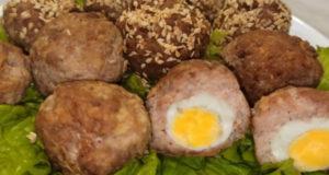 Мясная закуска из перепелиных яиц