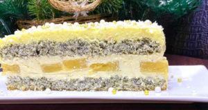 Торт маковый с ананасом
