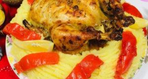 Как мы запекаем Сочную Курицу Целиком с Лимоном Розмарином и Чесноком в духовке